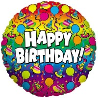 """Happy Birthday Colourful Party 18"""" Foil Balloon"""