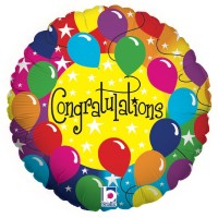 "Congratulations Rainbow 18"" Foil Balloon GRABO"