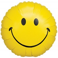 "Smiley - Yellow - 18"" foil balloon"