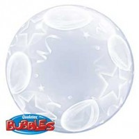 "Balloons & Stars 24"" Deco Bubble"