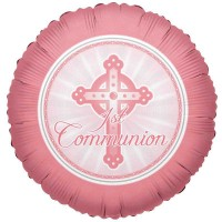 Communion Light Pink 18inch Foil Balloon