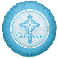 Communion Light Blue 18inch Foil Balloon