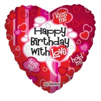 "Happy Birthday with Love - 18"" Foil Balloon"