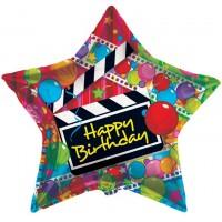 Happy Birthday Movie Star Balloon (36inch)