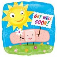 "Get Well Soon Band Aid - 18"" Foil Balloon"
