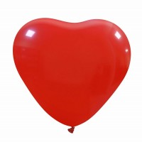 "Dark Red Superior Heart 17"" Latex Balloon 10Ct"