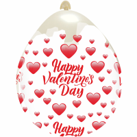 "Happy Valentine's Day 18""  Clear Stuffing Balloon 10ct"
