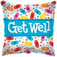 "Get Well Bandaids - 18"" foil balloon"