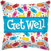 """Get Well Bandaids - 18"""" foil balloon"""