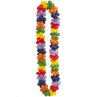 Rainbow Flower Lei 40""