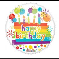 "Bright Happy Birthday - 18"" Foil Balloon"
