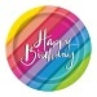 "Balloons & Rainbow Birthday 7"" Plates 8ct"