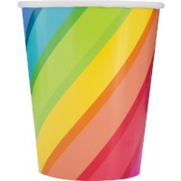 Balloons & Rainbow Birthday 9oz Cups 8ct