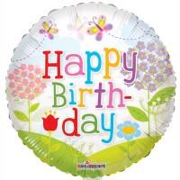 "Happy Birthday Landscape - 18"" foil balloon"