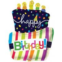 Happy Birthday Funky Cake Shape (36inch)