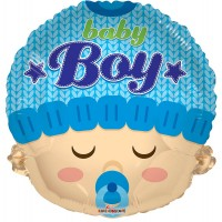 "Baby Boy Head Shape - 18"" foil balloon"