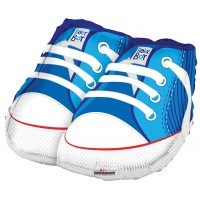 "Baby Shoes Blue Shape - 18"" foil balloon"