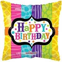 "Happy Birthday Animal Print - 18"" Foil Balloon"