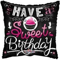 "Have a Sweet Birthday Pillow Balloon - 18"" foil balloon"
