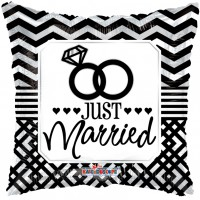 "Just Married - 18"" foil balloon"