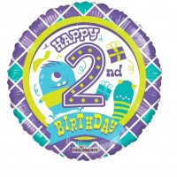 "Happy 2nd Birthday 18"" Foil Balloon"