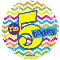 "Im 5 Today - 18"" foil balloon"