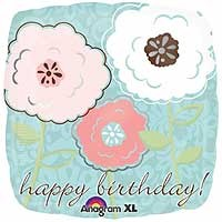 """Beautiful Birthday - 18"""" Foil Balloon"""
