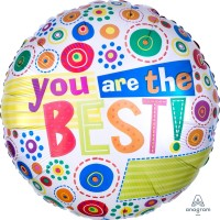 "You are the best Colourful 18"" Foil Balloon"
