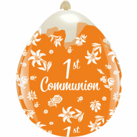 "First Communion 18"" Clear Stuffing Balloon 10ct"