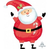 "Santa Jr. Shape 18"" Foil Balloon"