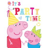 Peppa Pig Invitations 8CT