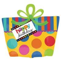 Big Dots Birthday Shape 56cm x 58cm