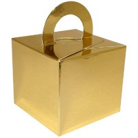 Metallic Gold Balloon Weight / Gift Box 10CT