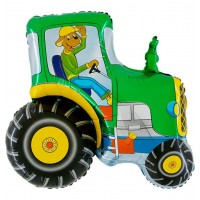 "Tractor Green 29"" Foil Balloon packaged w/out card"