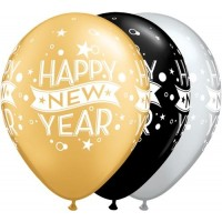 Happy New Year Latex 25ct