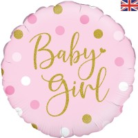 """Oaktree 18"""" Sparkling Baby Girl  Dots"""