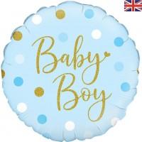 "Oaktree 18"" Sparkling Baby Boy Dots"
