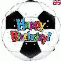 "Happy Birthday Football - 18"" foil balloon"