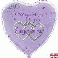 "Congratulations On Your Engagement - 18"" foil balloon"