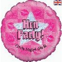 "Hen Party Holographic - 18"" foil balloon"