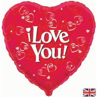 "I Love You Foil Balloon - 18"" foil balloon"
