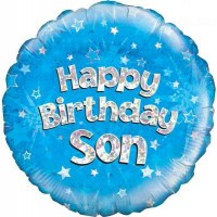 "Happy Birthday Son Holographic - 18"" Foil Balloon"