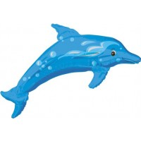Dolphin - Blue - Street Treat Shape - helium foil balloon
