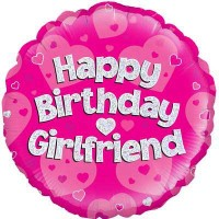 "Happy Birthday Girlfriend Holographic - 18"" Foil Balloon"