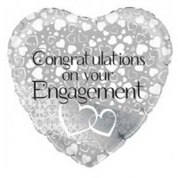 Entwined Hearts Engagement 18inch Foil Balloon