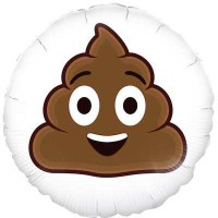 "Smiling Poop emoji - 18"" Foil Balloon"