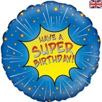 """Have A Super Birthday! Comic Themed 18"""" Foil Balloon"""