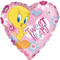 "Looney Tunes Tweety Tweet Heart 18"" Foil Balloon"