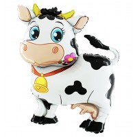 "Cow 45"" Foil Balloon packaged w/out card"