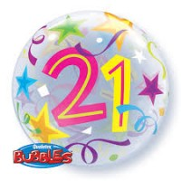 """Brilliant Stars 22"""" Single Bubble - 21"""